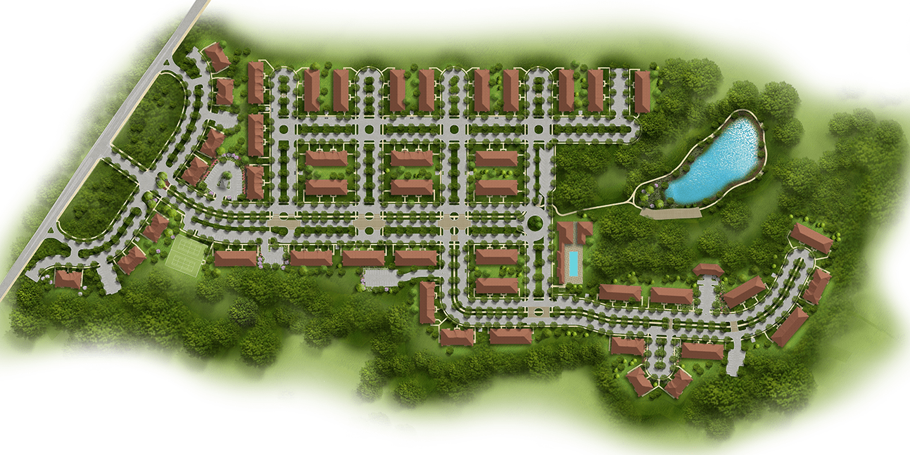The Gardens at Jackson Twenty-One apartment site plan