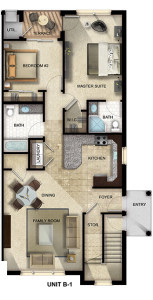 Gardens at Jackson Twenty-One two-bedroom, two-bathroom floor plan