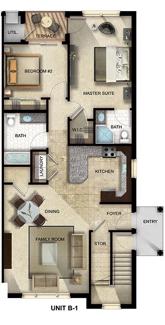 The Gardens at Jackson Twenty-One apartment floor plan 2 Bed, 2 Bath