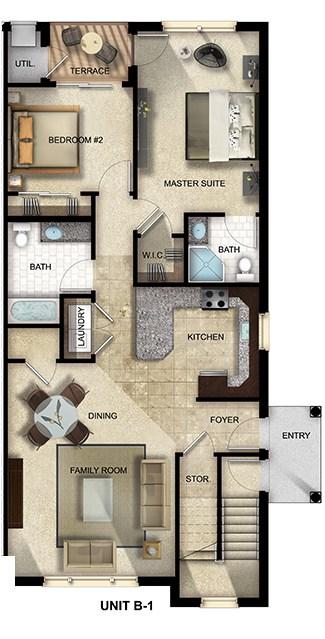 The Gardens at Jackson Twenty-One apartment floor plan 2 Bed, 2 Bath