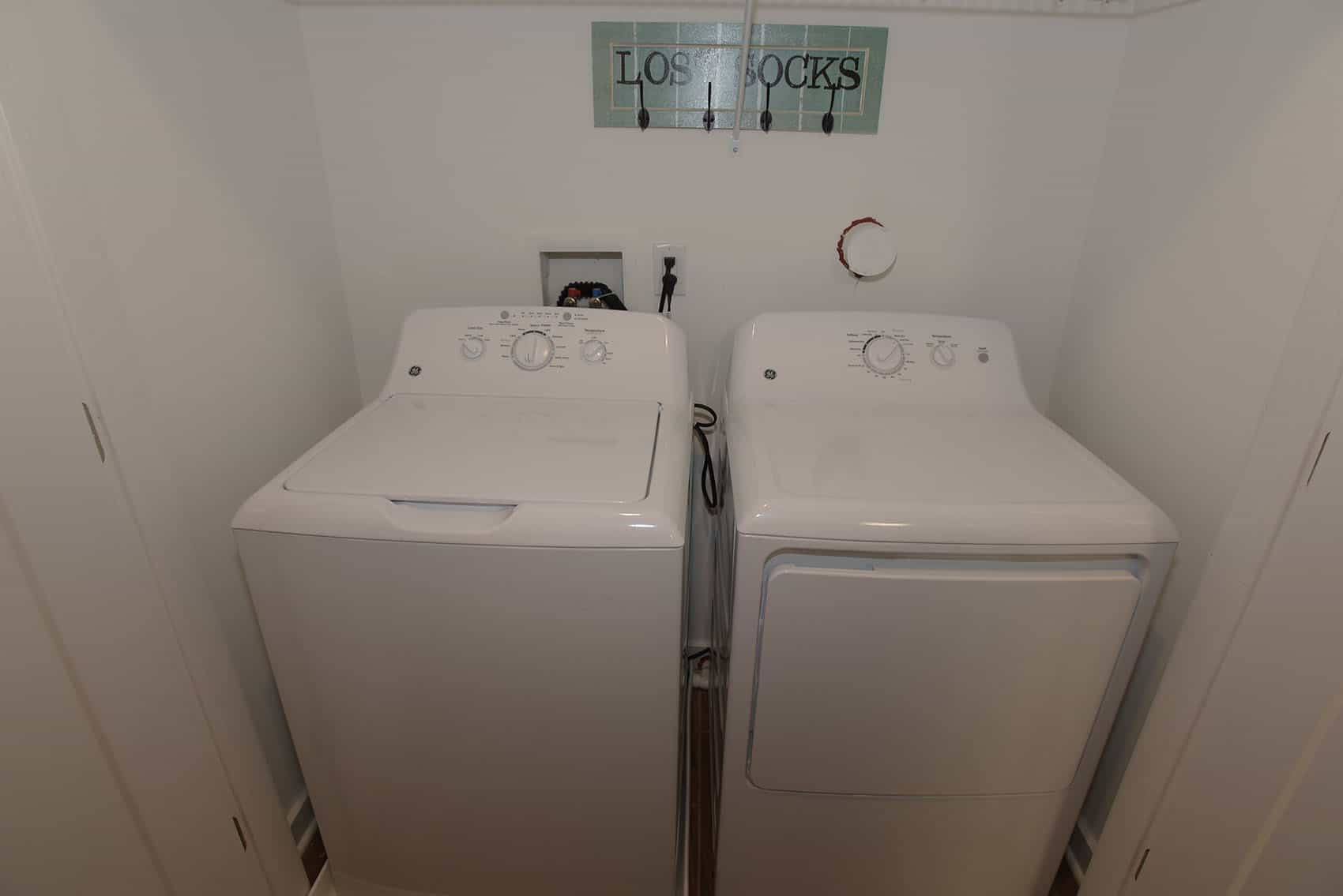 Full-size side-by-side washer and dryer at the Gardens at Jackson Twenty-One