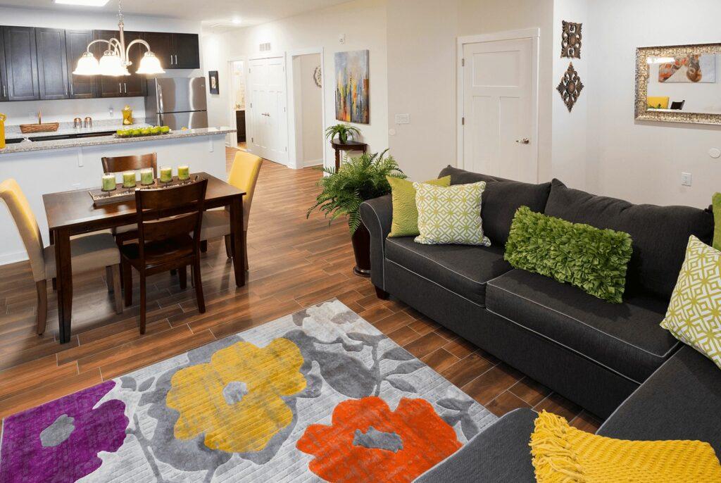Jackson 21 Apartments Interior Living Room